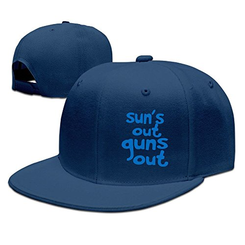 YQUE Unisex-Adult Sun's Out Guns Out Baseball Caps Navy