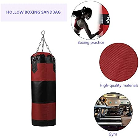 Boxing Sand Filling Thicken Strength Training Fitness Exercise Punch Sandbag jiashemeng Punch Sandbag Punching Bags for Boxing and Muay Thai