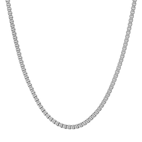 Durable Stainless Steel 2mm Square Box Link Chain Necklace, 18