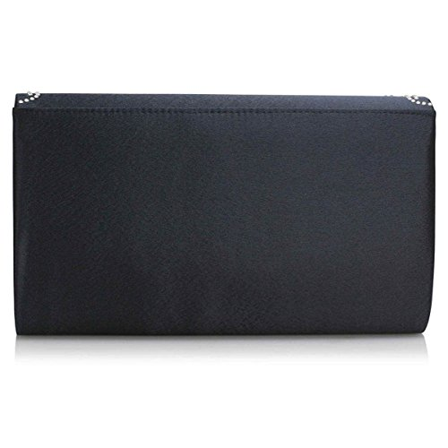 London Womens Wedding Ladies Navy Envelope Bridal Xardi Diamante Sequin Satin Bags Clutch Evening ZfqdRwXn