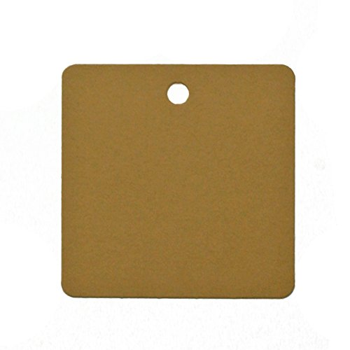 image about Printable Cardstock Tags named 60 Printable Cardstock Sq. Hold Tags with Holes, 2 x 2