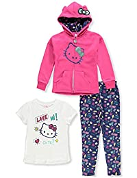 Hello Kitty Girls' 3-Piece Leggings Set Outfit