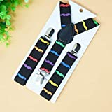 SaveStore Elastic Print Colorful Kid Suspenders Children Boy Clothing Accessories Suspenders Fashion