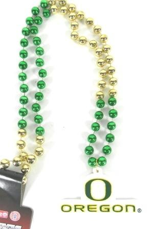 Oregon Ducks Mardi Gras Party Beads Necklace -