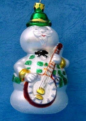 (The Brass Key Collection: Sam the Snowman from Rudolph the Red Nose Reindeer & the Island of Misfit Toys Handcrafted Glass Christmas Tree Ornament)