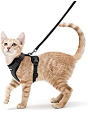 rabbitgoo Cat Harness and Leash for Walking, Escape Proof Soft Adjustable Vest Harnesses for Small Medium Cats, Easy Control Breathable Reflective Strips Jacket, XS, Black