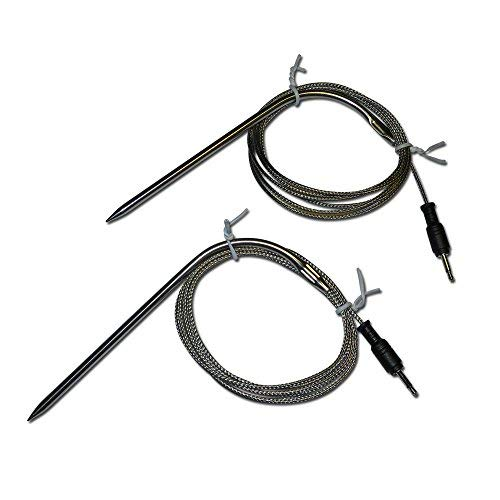Replacement Temperature Probes for Wireless BBQ/Oven Thermometers - Cappec, iGrill, iGrill2, iGrill3, iGrill Mini, and Thermopro (Meat Probe x 2)