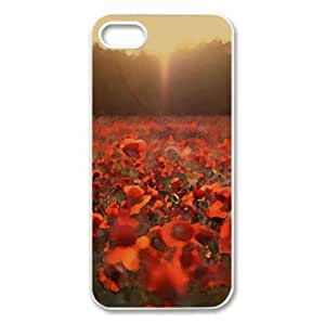 Poppies Meadow Watercolor style Cover iPhone 5 and 5S Case (Summer Watercolor style Cover iPhone 5 and 5S Case)