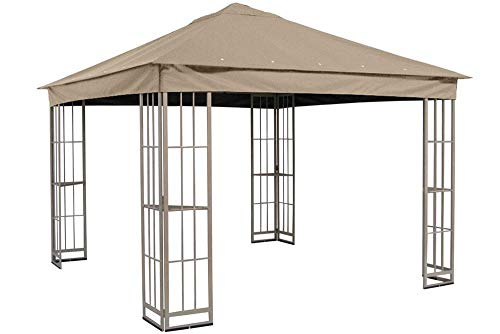 The Outdoor Patio Store Replacement Canopy for Garden Treasures 10'x10' Canopy for S-J-109DN in Taupe