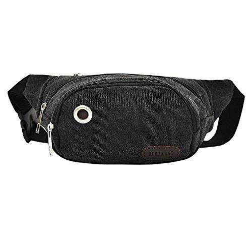 ACMEDE Hüfttasche Sport Gürteltasche Wasserabweisend mit Kopfhöher-Öffnung Bauchtasche für Damen und Herren zum Sport Reisen Klettern Radfahren Schwarz q8Y12D