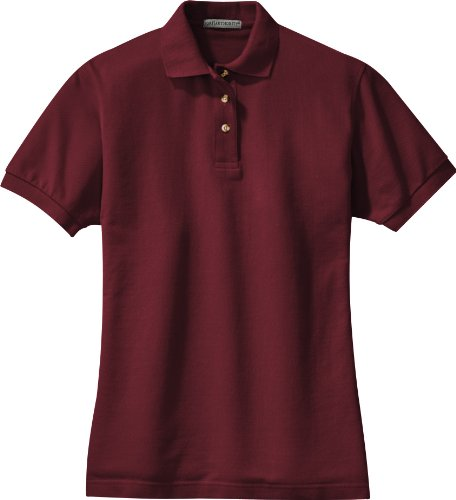 Port Authority - Ladies Pique Knit Sport Shirt. L420 - Burgundy - XXX-Large