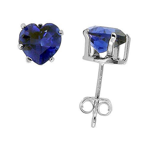 Sterling Silver Ziconia Sapphire Earrings product image