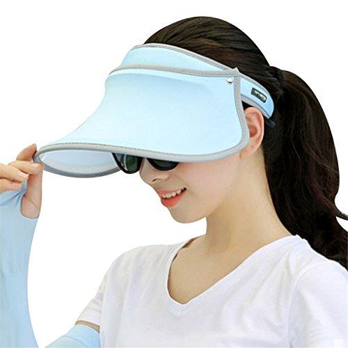 Hats Visor Cap Female Summer Sunhat Empty Top Cap Solid Unisex UV Sun Hat Sunvisor Woman Beach Hat Q1 003 (1970s Knit Top)