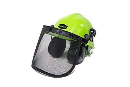Greenworks GWSH0 Chainsaw Safety Helmet with Earmuffs