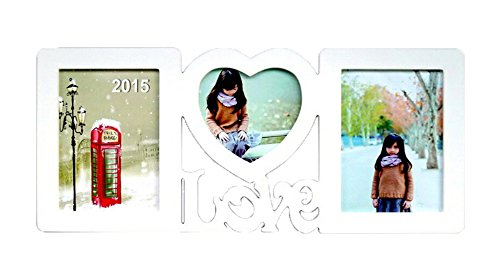 niceEshop(TM) Love Heart Hanging Wood Collage Photo Picture