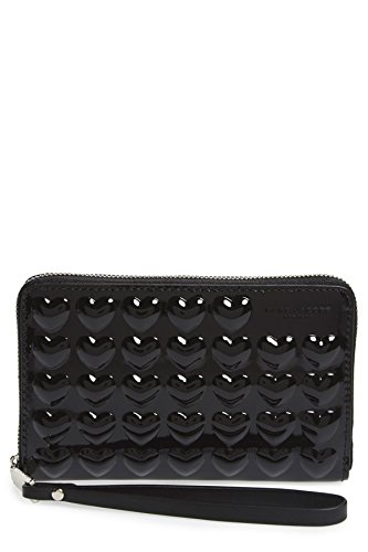 Marc Jacobs Embossed Heart Leather Smartphone Wallet - Black