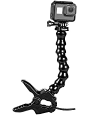 Suptig Kaken Flex Klem Mount Zwanenhals Mount voor GoPro Hero 10 Hero 9 Hero 8 Hero 7 Hero 6 Hero 5 Hero 4 Sessie Hero 3+Hero 3 Arlo pro Arlo go Action Camera