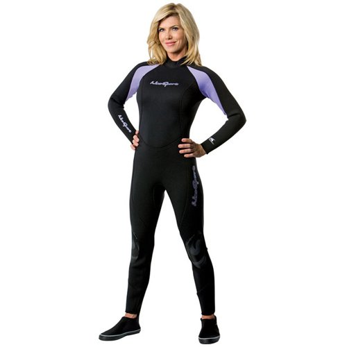 - NeoSport Wetsuits Women's Premium Neoprene 5mm Full Suit, Lavender Trim, 8 - Diving, Snorkeling & Wakeboarding