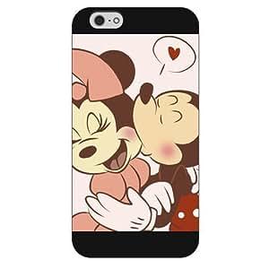 "Customized Black Hard Plastic Disney Cartoon Mickey Mouse iPhone 6 Plus Case, Only fit iPhone 6+ 5.5"" Kimberly Kurzendoerfer"