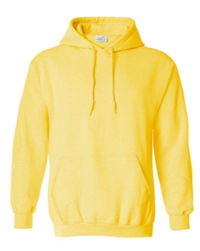 Sweatshirt Crewneck Lightweight (Joe's USA tm Hoodies Soft & Cozy Hooded Sweatshirt,Large Yellow)