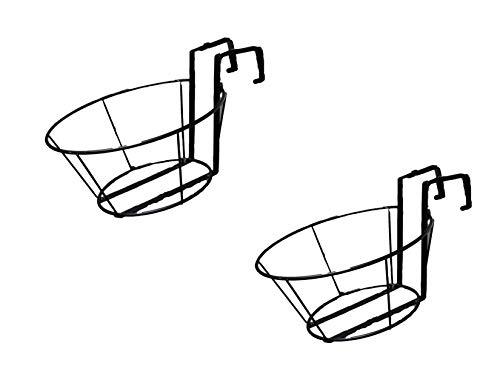 (Adjustable Over The Railing Plant Pot Holder 12