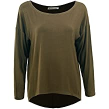 GLOSTORY Women Casual Long Batwing Sleeve Plain t Shirts Tops 2696