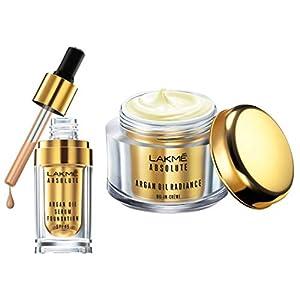 Lakmé Absolute Argan Oil Serum Foundation with SPF 45, Ivory Cream/Warm Crème, 15ml And Lakmé Absolute Argan Oil…