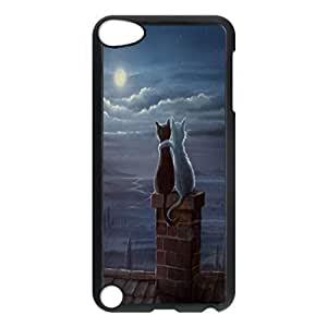 Cats on a roof Custom Unique Image for ipod 5th Generation Hard Case Cover Skin