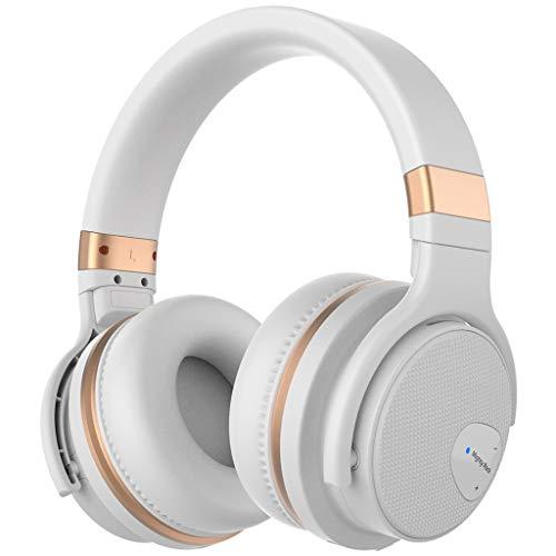 (AKJHFS Headphone Headphones Wireless Gaming Earphone Stereo Headset Headphone for Smartphone iPhone Computer Game Player (Color : White))