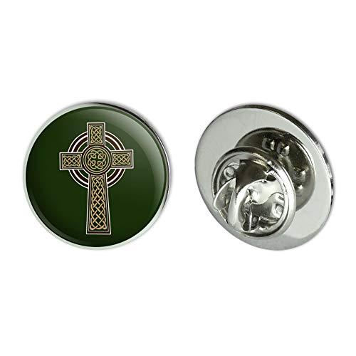 "GRAPHICS & MORE Celtic Christian Cross Irish Ireland Metal 0.75"" Lapel Hat Pin Tie Tack Pinback"