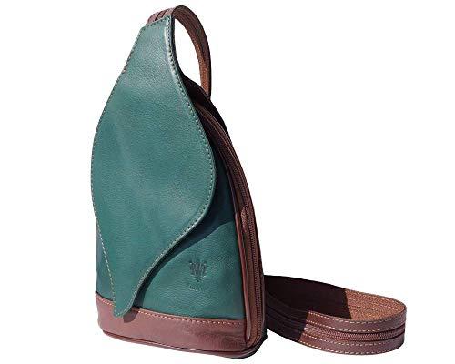 Avec Market Sac Vert 2060 Florence Foncé Leather Mode Dos D'arbre Ouverture À Feuille Gm Foglia marron Sacs xgB0wBE
