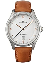 Fortis Tycoon Date A.M. Automatic Stainless Steel Mens Strap Watch Date 903.21.12.L.38
