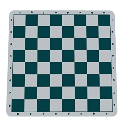 Wood Expressions The Original 100% Silicone Tournament Chess Mat - 20 Inch Board, Green - by WE Games