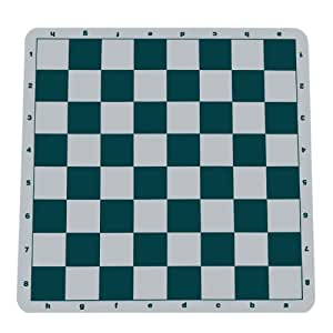WE Games Green Silicone Tournament Chess Mat - 19.75 Inch Board with 2.25 Inch Squares