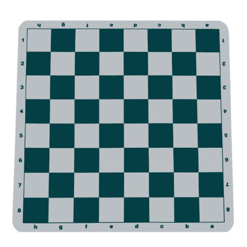 (WE Games Original 100% Silicone Tournament Chess Mat - 20 in. Board, Green)