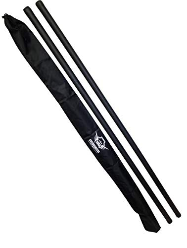 (Foam Padded Training Bo Staff with Free Armory Carry Bag Case (Black/Pair, 4 ft.))