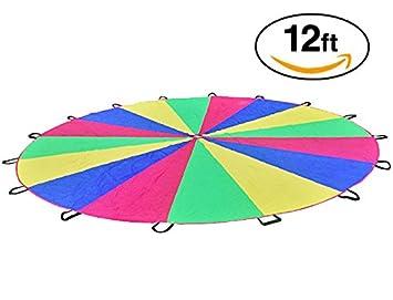 Au0026M Pro Giant Kidu0027s Play Parachute Canopy with 16 Handles (12 Feet) Indoor u0026  sc 1 st  Amazon.com & Amazon.com : Au0026M Pro Giant Kidu0027s Play Parachute Canopy with 16 ...