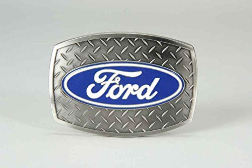 SpecCast Brand Ford Oval Diamond Plate Buckle Belt Buckle - 09119
