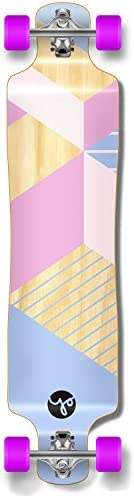 Yocaher Geometric Series Longboard Complete Cruiser and Decks Available for All Shapes Complete-Lowrider-Purple
