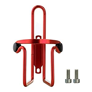 Allnice® Premium Ultra Light Anti Rust Aluminum Alloy Welded Bike Bicycle Cycling Handlebar Water Bottle Cage Holder Rack Bracket Bike Accessory for MTB/Road/BMX (Red)
