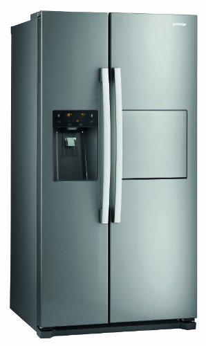 Gorenje NRS9181CXB Side by Side / A+ / / 184 cm / 445 kWh/Jahr / 370 L Kühlteil / 179 L Gefrierteil / Abtau-Vollautomatik NoFrost / Fresh-Zone-Schublade / Multiflow-Kühlsystem mit Quick Cooling Funktion / Inox Finger touch
