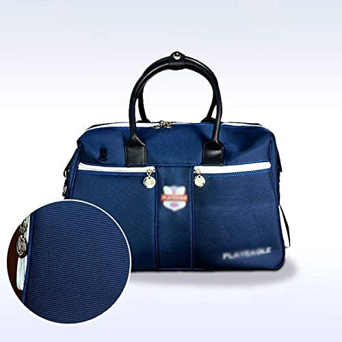 アウトドア旅行服収納袋ユニセックス多機能ゴルフダブルレジャートラベルバッグゴルフブルーを運ぶためにポータブルなデザイン、簡単用品 HMMSP