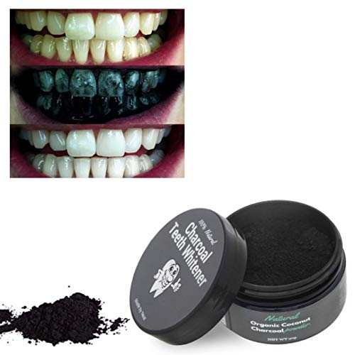 Charcoal Activated Natural Teeth whitening Powder- 100% Organic activating Coconut Charcoal Powder- Great for Sensitive Teeth and Best Solution to Whitening Toothpaste Strips & gels