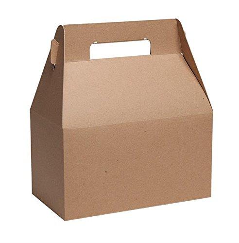 Gable Boxes, X-Large 9x5x10 Size, Set of 6 (Natural Kraft) -