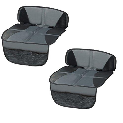 2 x Kindersitzunterlage, Unterlage für Autositze, Sitzschoner, Schutzunterlage für Rücksitzbank Kindersitze Vorteilspack 2 Stück