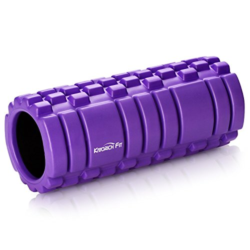 Akapola Yoga Roller Foam for Massage,Physical Therapy, Pain Release & Myofascial Release, Foam Roller for Workout Muscles Purple