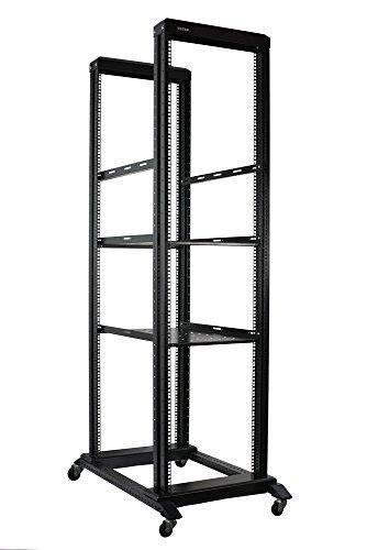 (Raising Electronics Server Rack Open Frame Rack 4 Post 19 inch Adjustable Server/Audio Rack Cold Rolled Steel(42U,17Depth))