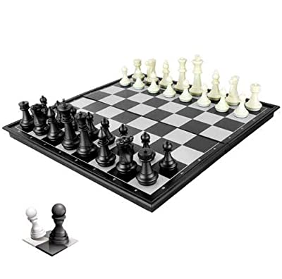 Ocim Magnetic Travel Chess Set 3 in 1 Chess Checkers Backgammon Set for Adults Kids Folding Portable Chess Set Traditional Chess Game