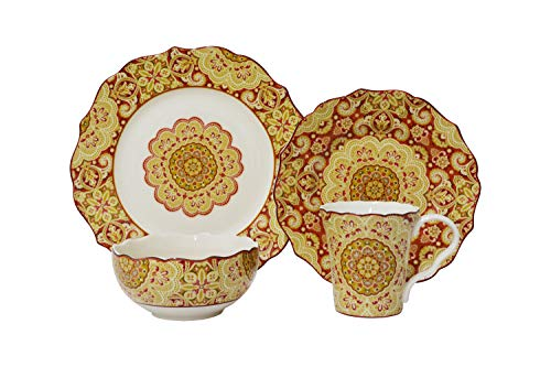 Lyria Saffron 16 Piece Dinnerware Set ()