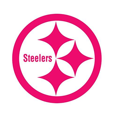 NFL Pittsburgh Steelers (PINK) (set of 2) - silhouette stencil artwork by ANGDEST - Waterproof Vinyl Decal Stickers for Laptop Phone Helmet Car Window Bumper Mug Cup Door Wall Home (Pittsburgh Steelers Helmet Decal)